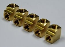 """Brass Fittings: Brass 90° Elbow Extruded, Female Pipe Size 1/8"""", QTY. 5"""