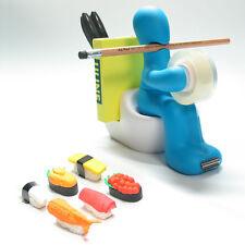 Kito Design Butt Station Office Desk Organizer Blue + Free Gift 1 Sushi Eraser