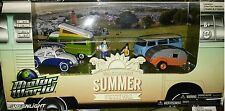 4 pack VW Summer Festival Scene Diecast 1:64 Greenlight 3 inch Motor World