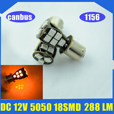 1 X P21W 1156 BA15s CANBUS LED 18-SMD Stop Tail Indicator Car Bulbs YELLOW AMBER