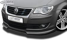 RDX Frontspoilerlippe für VW Touran ab 2007