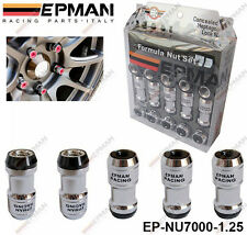 EPMAN BLACK LOCKING FORMULA WHEEL NUTS M12 X 1.25 fit NISSAN INFINITI SUBARU SUZ