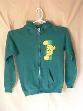 DISNEY, WINNIE THE POOH, HOODIE, YOUTH L (10-12), ZIPPER FRONT, GREEN