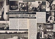 Coupure de presse Clipping 1958 Gerard Blain  (2 pages)