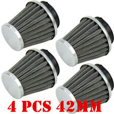 4x 42mm Air Filter Pod For Kawasaki GPZ KZ900 KZ1000 GPZ1100 Suzuki GS750 GS1000