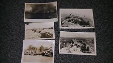 WWII set of prints showing trenches, Destruction, and monument
