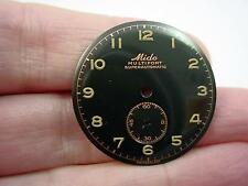 Vintage Black Mido 28mm Watch Dial Multifort Superautomatic Subdial 5.35mm NOS