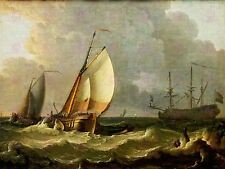 PAINTING SEASCAPE MARITIME BAKHUIZEN NAVAL SHIPS LARGE ART PRINT POSTER LF1648