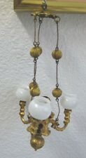 Antique Miniature Doll House Erhard & Söhne Ormolu 3 arm gas chandelier