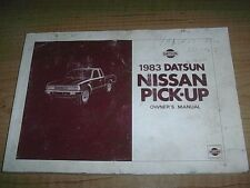 1983 DATSUN NISSAN PICK-UP OWNERS MANUAL