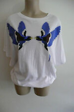 BNWT STELLA McCARTNEY white SWALLOW print T-SHIRT TUNIC DRESS UK8 £230