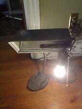 Vintage Brown Eagle Cast Iron Base Gooseneck Rectangualer Desk Lamp