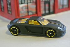 Hot Wheels Porsche Carrera GT - Flat Black w/ Yellow Interior - Loose - 1:64