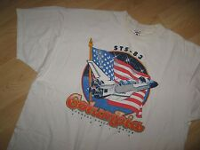 Space Shuttle Columbia Tee - 1997 NASA STS-83 Kennedy Center Grunge T Shirt XXLg