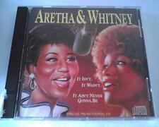 Aretha Franklin Whitney Houston IT ISN'T,WASN'T,AIN'T NEVER promo cd single 1989
