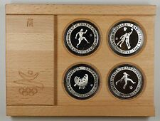 1990 Spain 2000 PTAS Barcelona 1992 Olympic Silver Proof 4 Coin Set- w/COA- #1