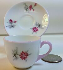 Shelley China Westminster Miniature Cup and Saucer in Charm Pattern