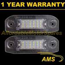 2X VOLVO S80 S40 S60 V50 V60 C70 XC60 XC70 V70 XC90 18 LED NUMBER PLATE LAMPS