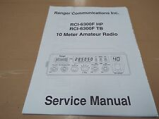 Ranger RCI-6300F HP / TB Service Manual with schematics (copy of original one)