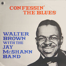 WALTER BROWN Confessin' The Blues UK Press Affinity AFF 66 1981 LP