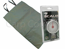 Carp Care Fishing Folding Padded Unhooking Mat Set & 50lb Scales & tape measure