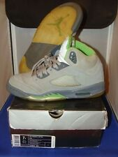 Nike Jordan Retro 5 Green Beans 2006 Size 7 Boys Heavily Worn