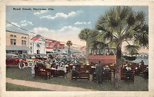 A98/ Daytona Florida Fl Postcard c1915 Band Stand Crowd Automobiles