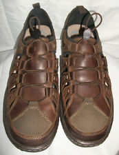 Hush Puppies Mens Size 13 M Belfast Fisherman Brown Leather Sandals Shoes N