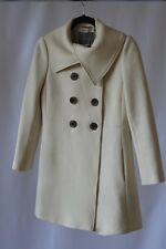 Womens J Crew coat jacket size 4 Double Cloth cream Italy wool blend