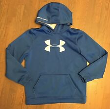 Under Armour Pullover Hoodie Blue Youth X-Large EUC