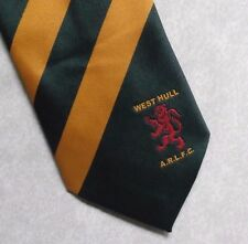WEST HULL ARLFC TIE RUGBY LEAGUE FOOTBALL CLUB VINTAGE RETRO 1990s GREEN GOLD