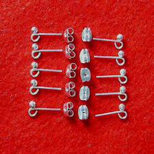 10 pairs silver plated earstuds with loop, incl scrolls, findings for jewellery