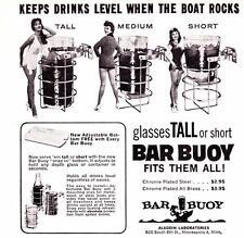 Vintage ad Bar Buoy 1964 Vintage Boat Drink Holder Pin Ups