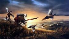 "Terry Redlin ""Evening Surprise "" Pheasant Farm Art Print 18"" x 10.5"""