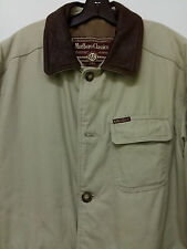 MARLBORO COWBOY CLASSICS JACKET COAT LEATHER COLLAR SIZE L QUILTED PADDED NICE!