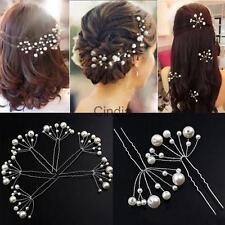 6x Silver Pearl Bridal Hair Pin Wedding Hair Accessory Jewelry Hair Clip