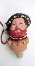 MWT 1984 Great American Figural Carved Wood King Henry VIII Wine Bottle Stopper