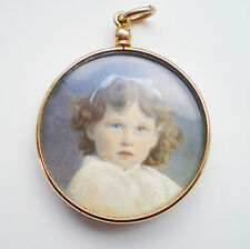 Antique Edwardian 15ct Gold Circular Glass Screw Top Double Picture Locket c1905