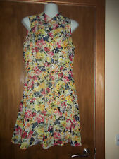 womans multi color floral print sleeveless dress from atmosphere size 12 VGC