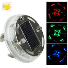 Solar Car LED Colorful Flash Wheel Waterproof lights