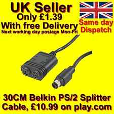 Belkin PS2 PS/2 Keyboard / mouse splitter cable 30cm  (Belkin Pro Series)