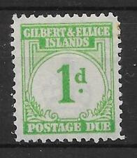 GILBERT & ELLICE IS. SGD1 1940 1d EMERALD-GREEN POSTAGE DUE MTD MINT
