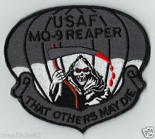 """USAF MQ-9 REAPER ATTACK DRONE UAV - THAT OTHERS MAY DIE - 4"""" HOOK & LOOP PATCH"""