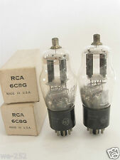 2 matched RCA 6C8G tubes - TV7B tested @ 49/46, 47/48, min:25/25