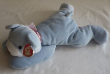 Huggy Ty Pillow Pals Pets Bear Light Blue Baby Boy MWMT Mint