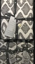 west elm organic double diamond king duvet & 2 standard shams in slate