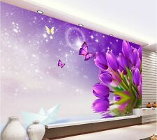 3D Wallpaper Bedroom Mural Modern Embossed tulip TV Background Wall 871017