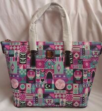 Disney It's A Small World Clock Face Dooney & Bourke Shopper Tote Purse Bag 1