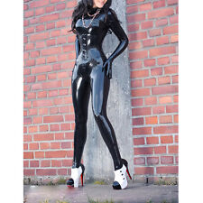 Sexy Rubber Bodystuits With Glove And Socks Slim Latex Catsuits W/O Corsets