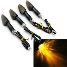 4X10LED Amber Motorcycle Motorbike Turn Signal Light Turning Indicator Universal